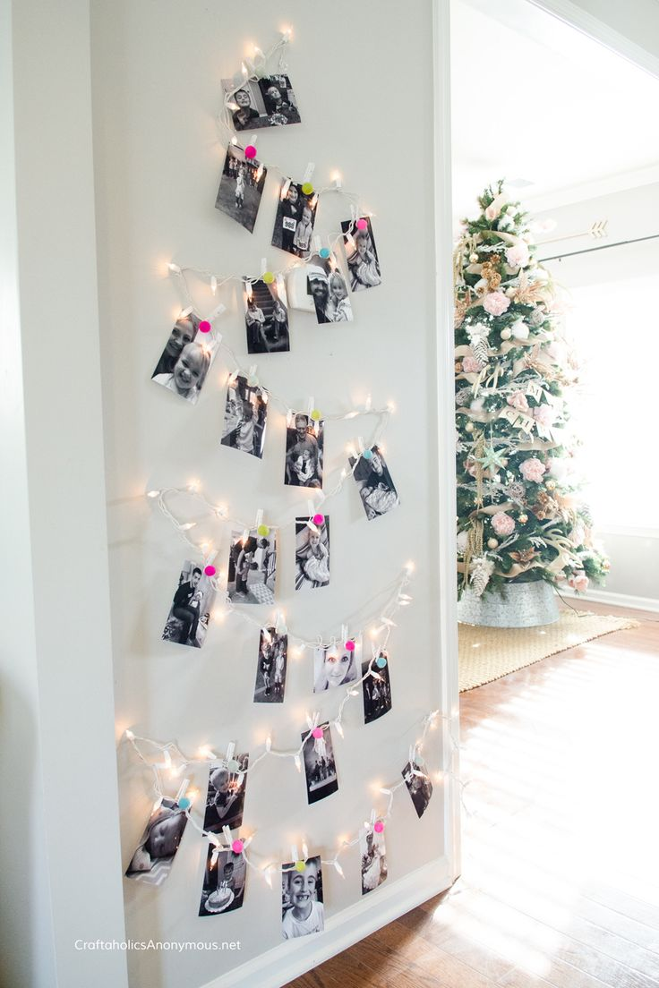 Easy Christmas Decor! Turn your photos into a Photo Christmas Tree and show off your favorite photos for friends and family to see!