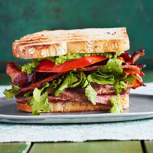 Daily Bite: Sliced Steak BLTs with Jalapeno Chimichurri