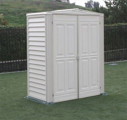 Duramax Yardmate 5x3 Vinyl Storage Shed (Floor Included) #StorageShedsOutlet