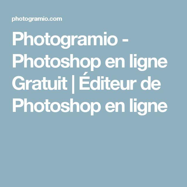 Photogramio - Photoshop en ligne Gratuit | Éditeur de Photoshop en ligne