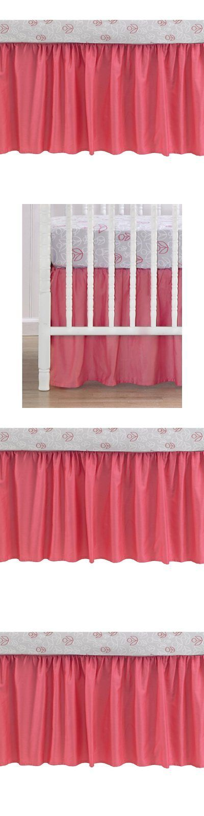 Cribskirts and Dust Ruffles 52345: Cocalo Collection Coral Cotton Sateen Gathered Dust Ruffle Crib Bed Skirt -> BUY IT NOW ONLY: $55.47 on eBay!