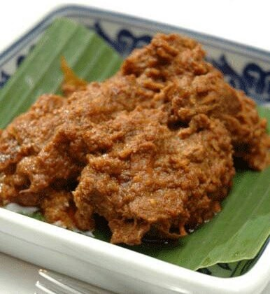 RENDANG....made from beef meat with hours cooking processing n many traditional spices....very delicious...has been said as the one of the most delicious food in the world....BEAUTIFUL INDONESIA HERITAGE