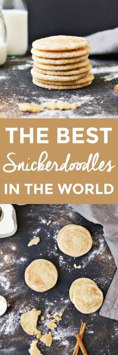 The Best Snickerdoodle Recipe in the World | how to make snickerdoodles, homemade snickerdoodles, homemade snickerdoodle recipe, from scratch cookie recipes, easy cookie recipes, the best cookie recipes, snickerdoodle recipe ideas || The Butter Half via @thebutterhalf