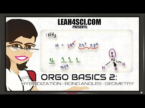 sp3 Hybridization and Bond Angles in Organic Chemistry Basics 2 - YouTube