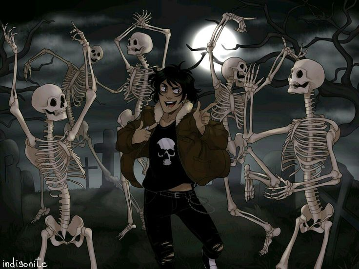 Spooky scary skeletons and shivers down your spine.
