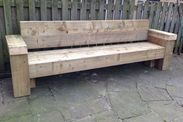 9ft railway sleeper bench and garden seat projects to. Black Bedroom Furniture Sets. Home Design Ideas
