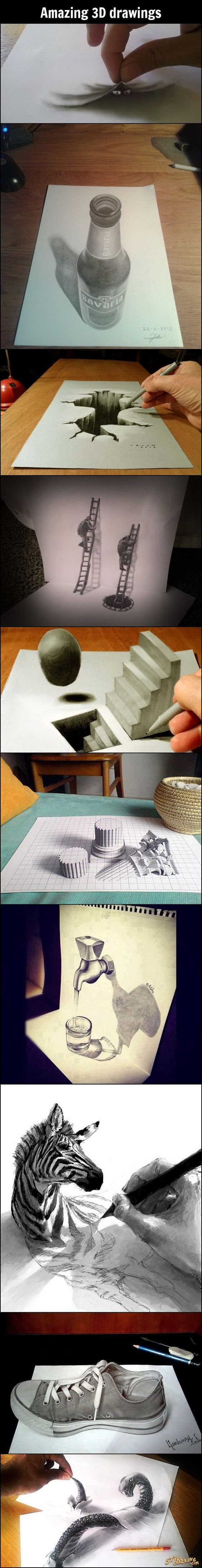 Amazing 3D Drawings: