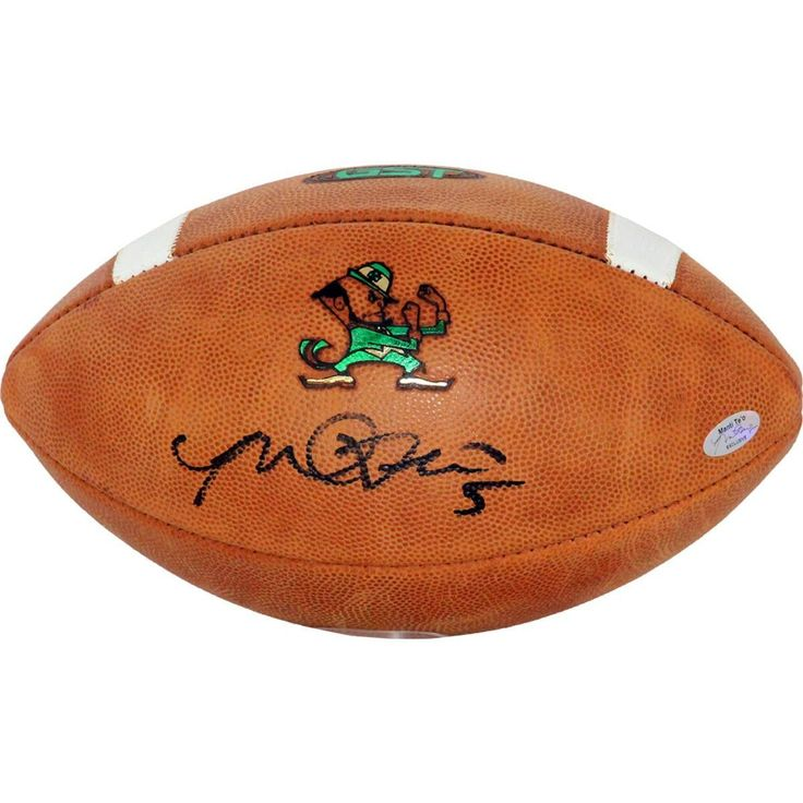 Manti Teo Signed Notre Dame Game Model Football (Teo Holo Only)