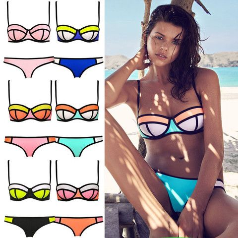 $20.00   Sexy Triangle Bikini With Rims Polyester Swimsuit T15010601