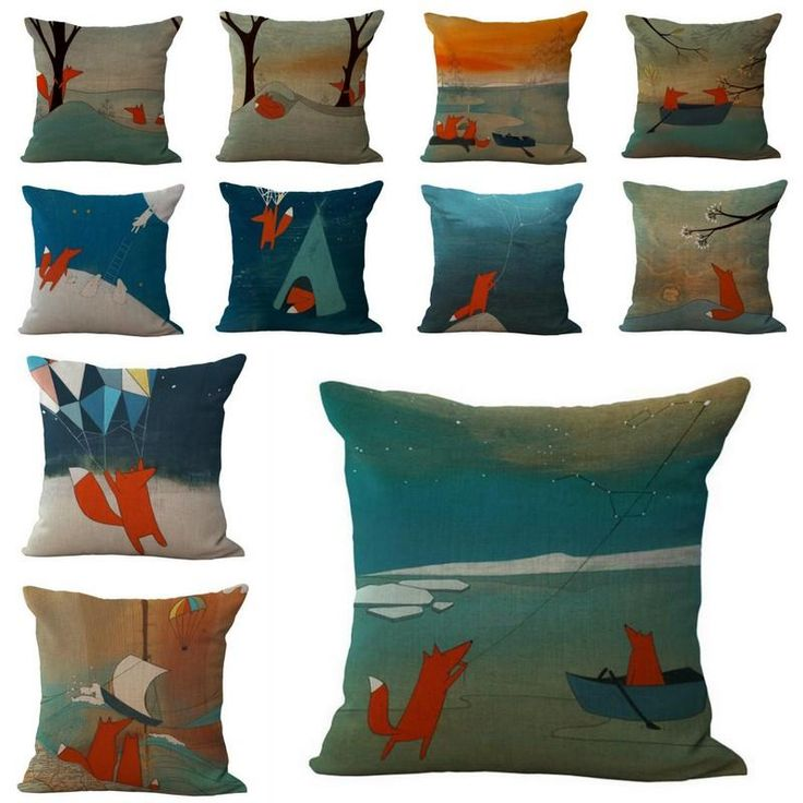 New Cartoon Fox Printed Pillowcase Home Sofa Waist Cushion Cover Square Throw Pillow Case 45x45cm Cheap Outdoor Chair Cushions Replacement Cushions Outdoor Furniture From Happytraveltime, $10.92| Dhgate.Com