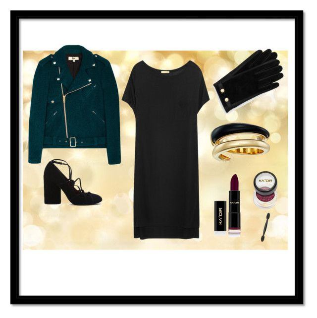 """Black Dress"" by fpantopikou on Polyvore featuring Rika, T By Alexander Wang, Michael Kors and Ted Baker"