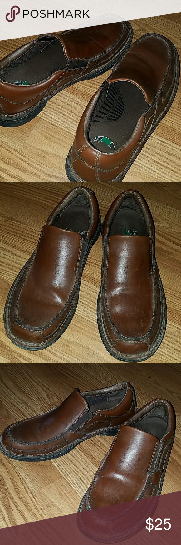 Skechers Men Shoe 12M Brown Skechers comfort technology. 12M perfect for work, worn for multiple times. Skechers Shoes Loafers & Slip-Ons