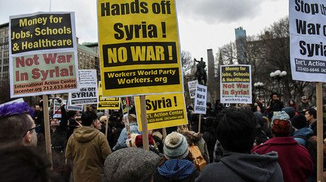 'Emergency' protests across US demand 'Hands off Syria' (VIDEOS, PHOTOS)