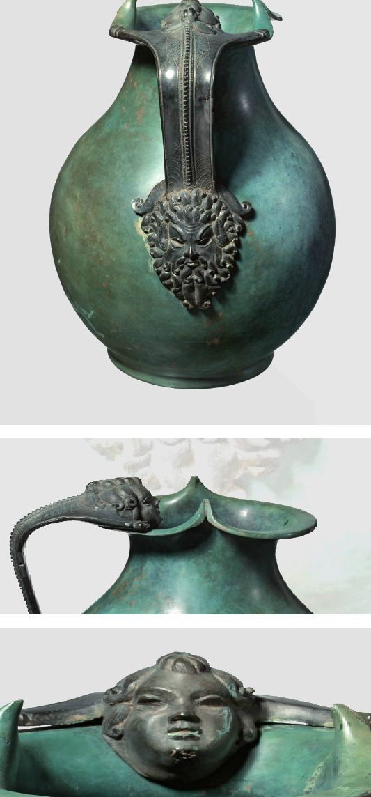 A Roman high quality bronze pot, early Imperial period, 1st century A.D.