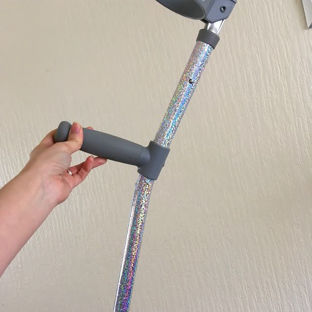 Rose Gold Autumn: How I decorated my crutches