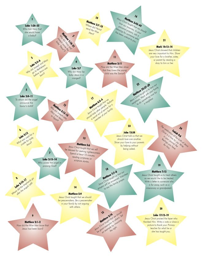 """Second part of """"What is Christmas"""" advent calendar.  These are the stars you stick on the chart. another free printable. PS. I printed these on cardstock and laminated them so we could use year after year."""