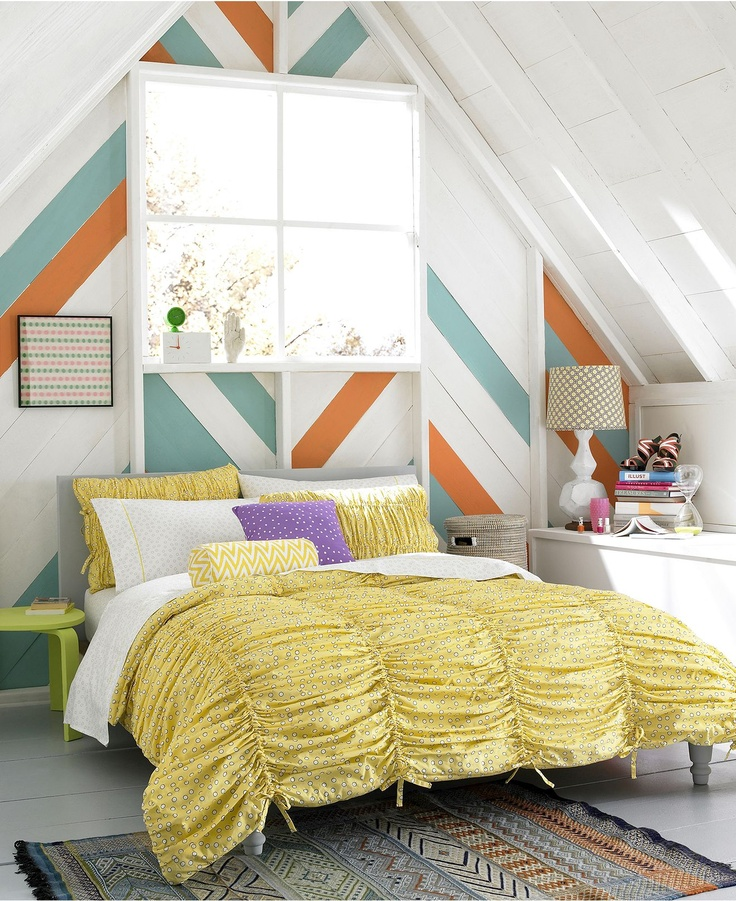 35 Best Images About Yellow And Grey Bedding On Pinterest