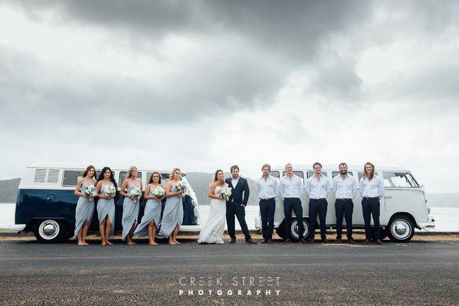 wedding photos of Bridal Party at Palm beach Sydney