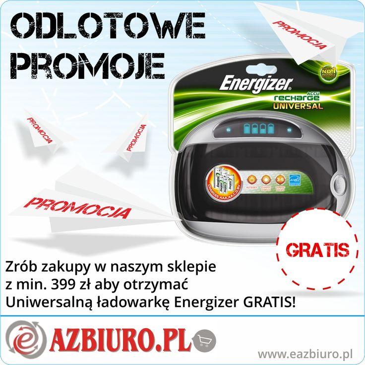Kup dowolne produkty nie objęte dodatkowymi promocjami za min 399 zł i zgarnij profesjonalną ładowarkę Energizer Gratis . http://eazbiuro.pl/promocje/121-ladowarka_energizer_za_399_zl  #Eazbiuro #EazbiurPromocja