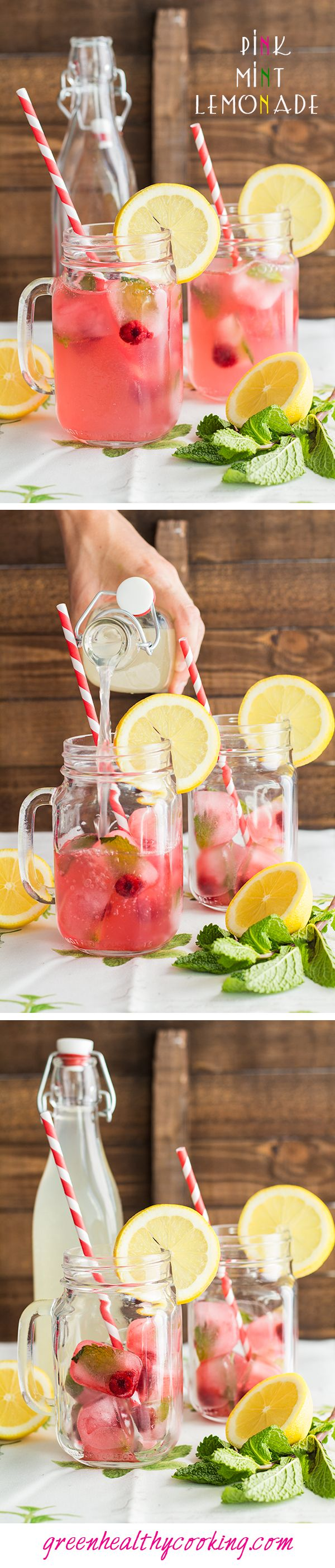 Pink Mint Lemonade - THE most awesome lemonade you will ever try! It is super refreshing, healthy, yummy AND darn beautiful, don't you think?