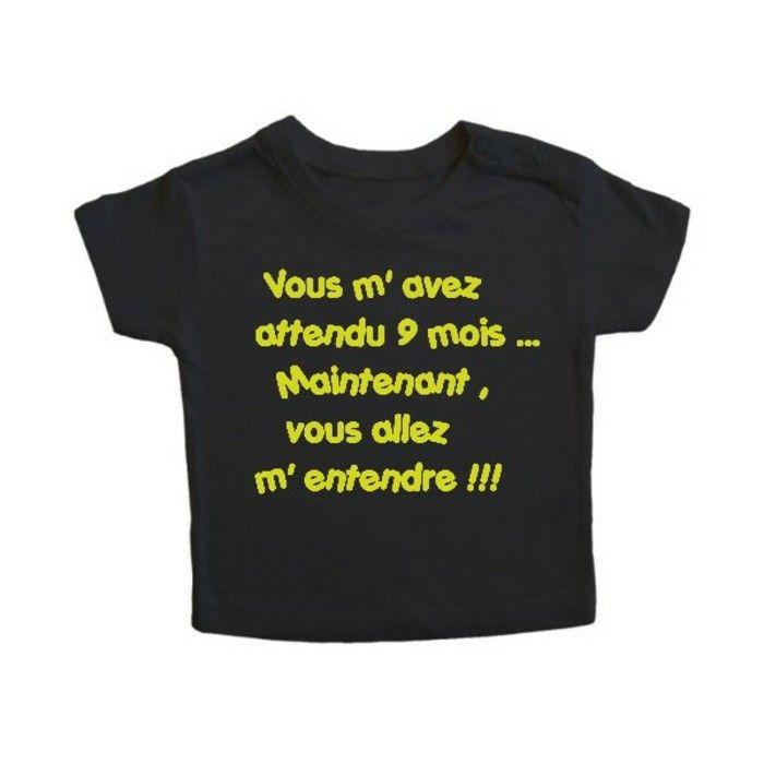 t shirt personnalisé enfant Kibule com vous allez m entendre en vert sur fond…