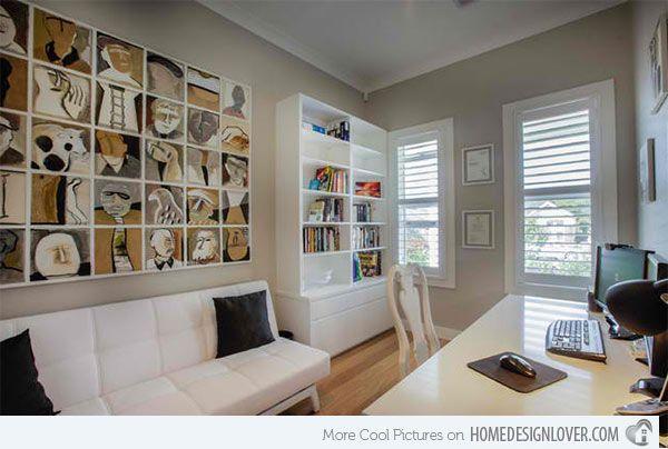 15 Ideas para un diseño contemporáneo Gray Home Office | Inicio Diseño Amante