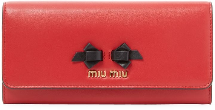 Miu Miu Women's Long Wallet with ID Holder