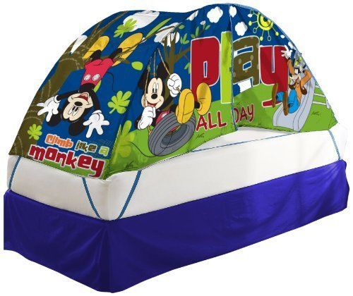New Bed Tent Kids Play Fun Disney Mickey Mouse Dome Clubhouse Hideaway  sc 1 st  Pinterest & 16 best Bed Tents for Kids images on Pinterest | 3/4 beds Bed ...