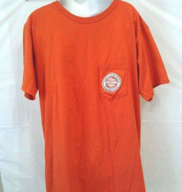 Harley Davidson New Smyrna Beach Florida Tshirt Large Mens Orange