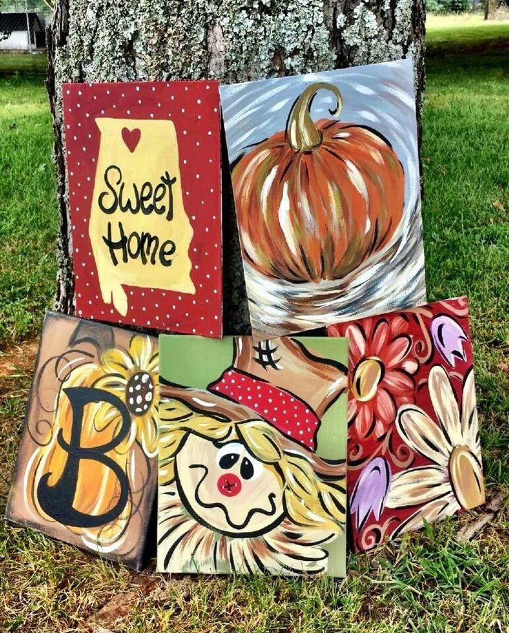 Fall canvas ideas