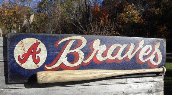 Atlanta Braves baseball Sign original art by ZekesAntiqueSigns
