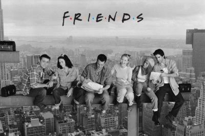 Friends Przyjaciele Lunch na belce plakat 91,5x61
