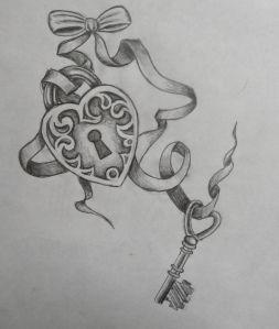 Lock & Key Tattoo  Roxannes Designs