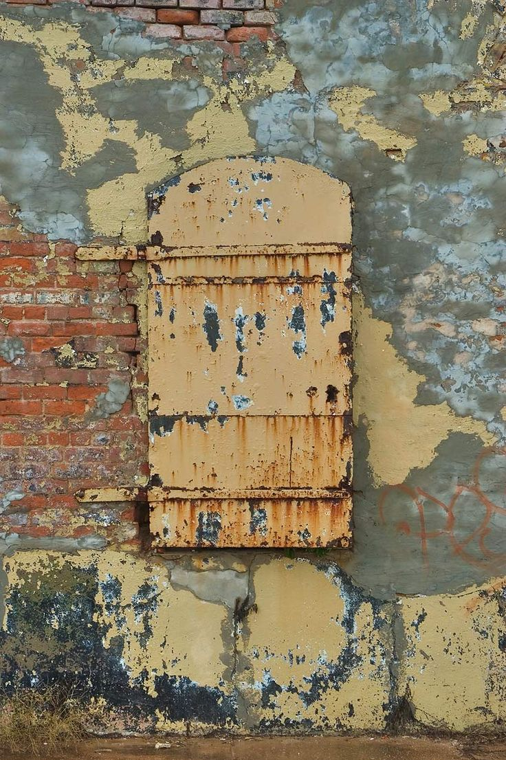 wall, paint, peeling, chipping, brick, old, window, surface, facade, urban, city, texture