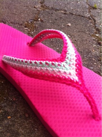 Crochet Flip Flop Design by Dalkær