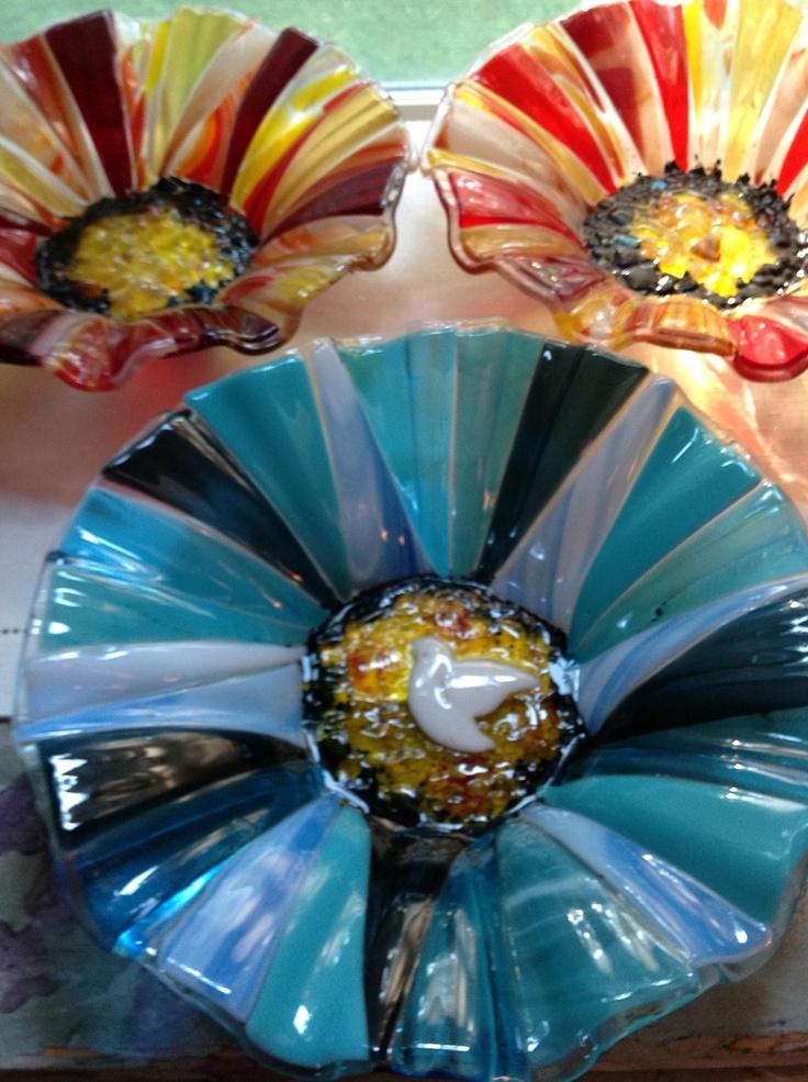 New fused glass bowls by mterziadesgins!