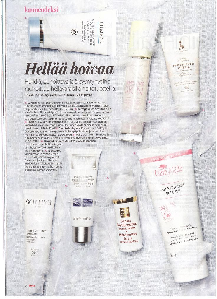 Ilona 1 2015 sensitive skincare tips   #sophielagirafe #sophielagirafecosmetics  www.sophielagirafecosmetics.com