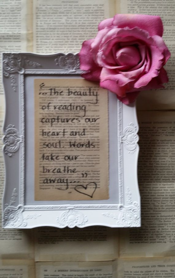 Shabby Chic Framed Quotes  Handmade by Author by MeganHenryAuthor