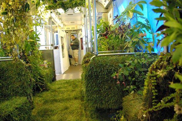 CTA Rail Car Converted into Mobile Garden | DesignDaily