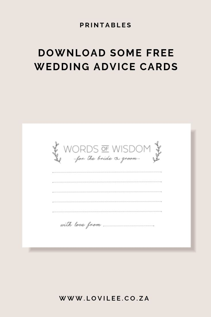 photo relating to Free Printable Bridal Shower Advice Cards named Obtain your absolutely free wedding day suggestions playing cards printable Free of charge