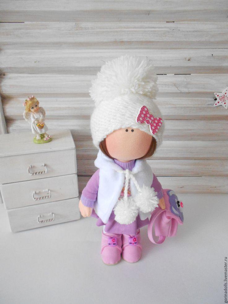 Купить Текстильная кукла -малышка.Маша - сиреневый, кукла ручной работы, интерьерная кукла