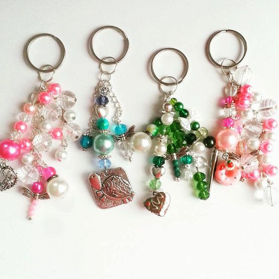 Cluster Keyring Keychain Bag Charm Zipper by AaishasCreativeMess