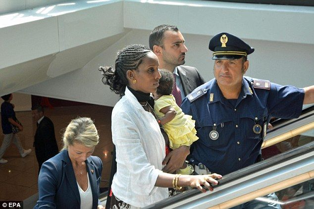 Meriam Ibrahim with her daughter Maya are now hoping for a new start in America with the rest of their family