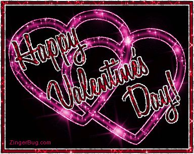 Animated+Glitter+Hearts | Glitter Graphic Comment: Happy Valentine's Day Glitter Linked Hearts
