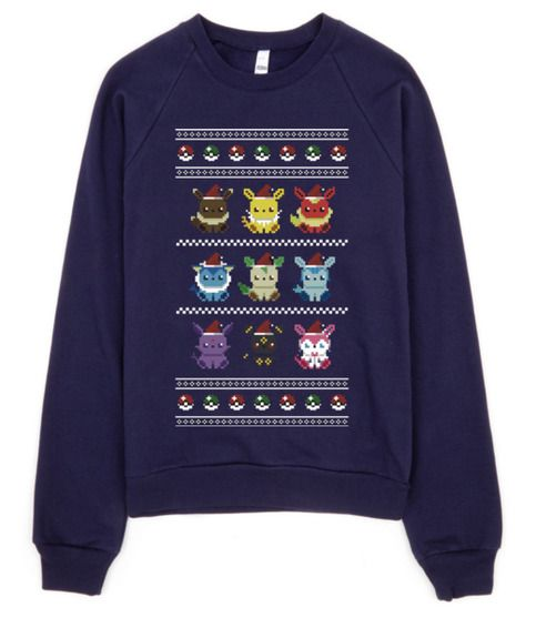Pokemon Christmas Sweater Unisex S-XXXL Made to order  Please leave a note when checking out of which colour sweater you want, or a random one will be chosen for you :)