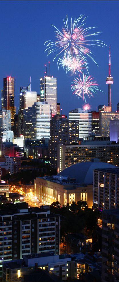 Fireworks, Toronto, Canada