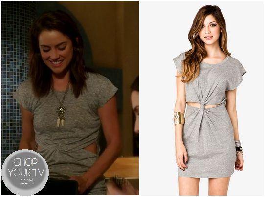 Shop Your Tv: 90210: Season 5 Episode 17 Silver's Grey Twist Front Cut Out Dress