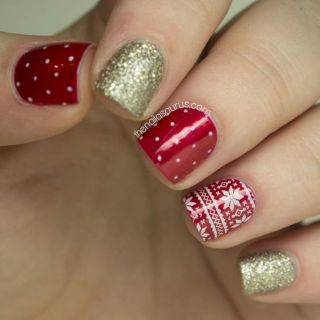 20 Sparkly DIY Manis for the Holidays via Brit + Co.