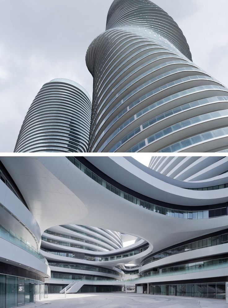 Above, MAD Architecture's Absolute Towers and below Zaha Hadid Architects-_- Galaxy Soho. Image © Iwan Baan