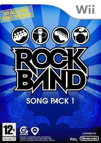 ROCK BAND song pack 1   WII  usato